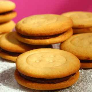 Malted Milk Sandwich Biscuits.