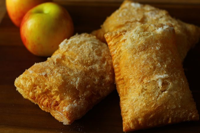 Deep Fried Apple Pies.Pastry pockets filled with a delicious cinnamon and apple combo.
