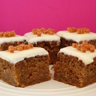 Autumn Spiced Pumpkin Tray Bake