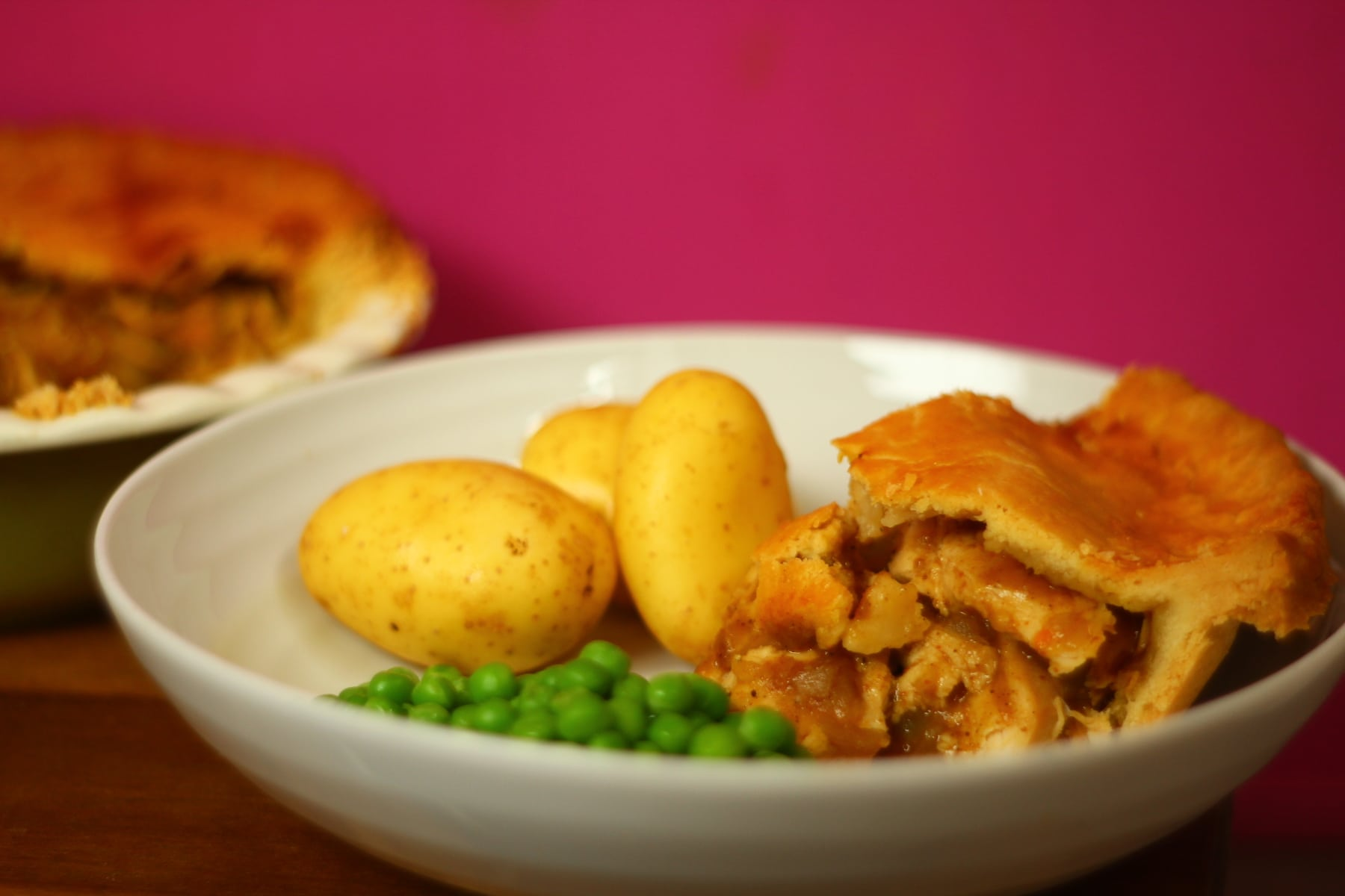 Retro Chicken Curry Pie.