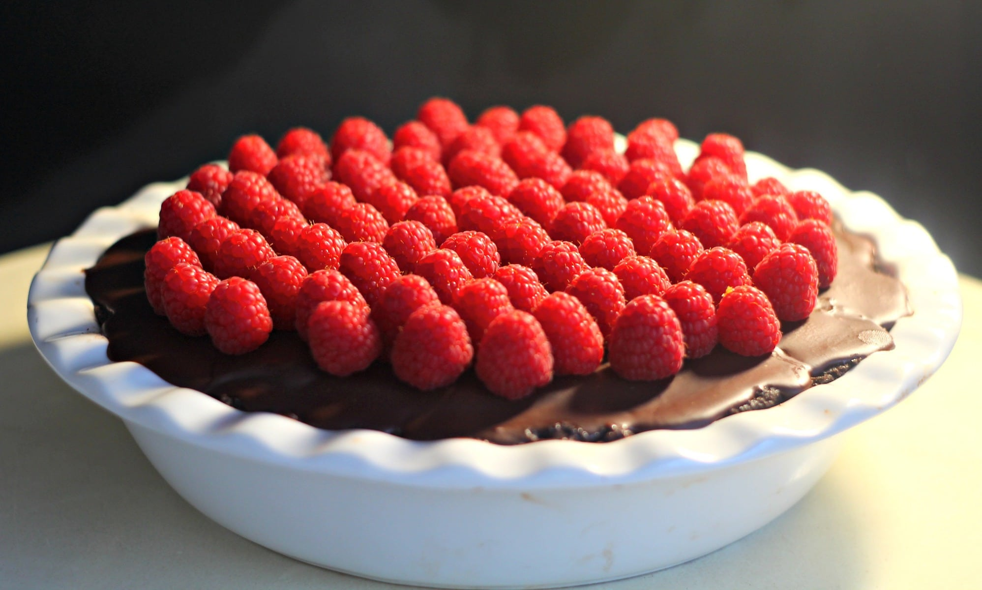 Chocolate, Passion Fruit and Raspberry Tart