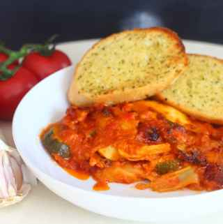 Easy Midweek Vegetable Lasagne.