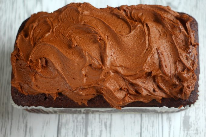 Chocolate Loaf Cake with Real Chocolate Icing