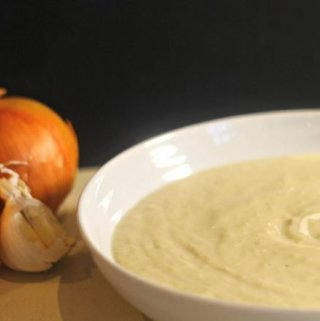 Baked Onion and Garlic Cream Soup.