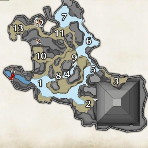 モンハンライズ】水没林のマップ情報 サブキャンプ・手記の場所まとめ【MHR】   AppMedia
