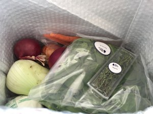 Blue Apron inside box