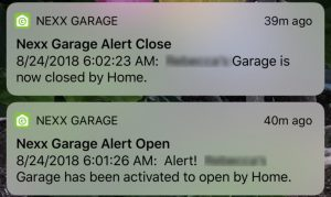 NexxGarage Notifications