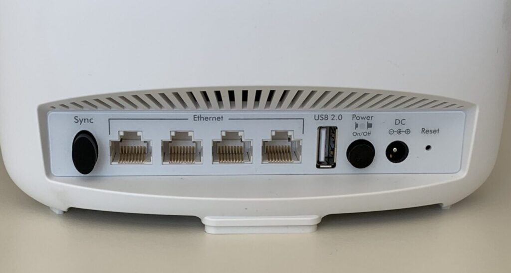 Back of Router with Ports