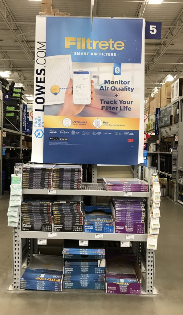Filtrete Smart Air Filter Lowe's Display
