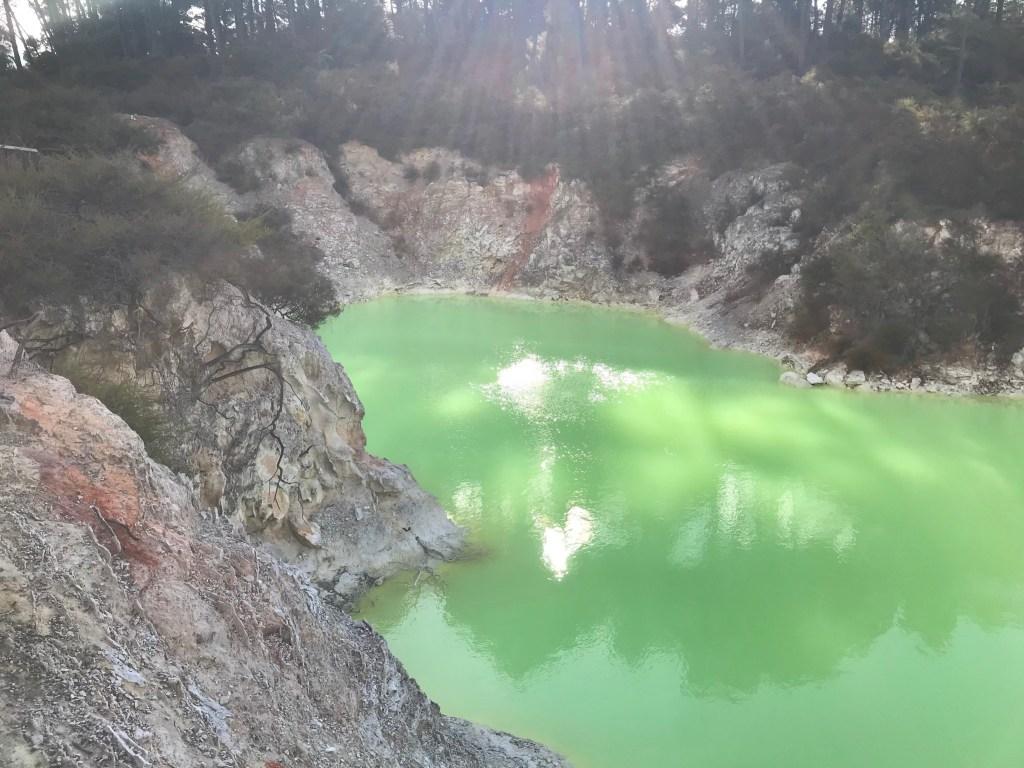 Rotorua New Zealand Wai O Tapu Green Lake
