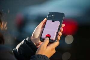 Katana Safety Wallet on Phone