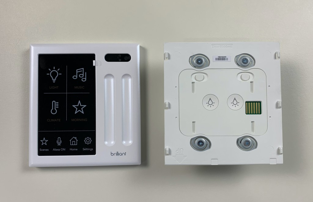 Brilliant smart home control panel with mounting box