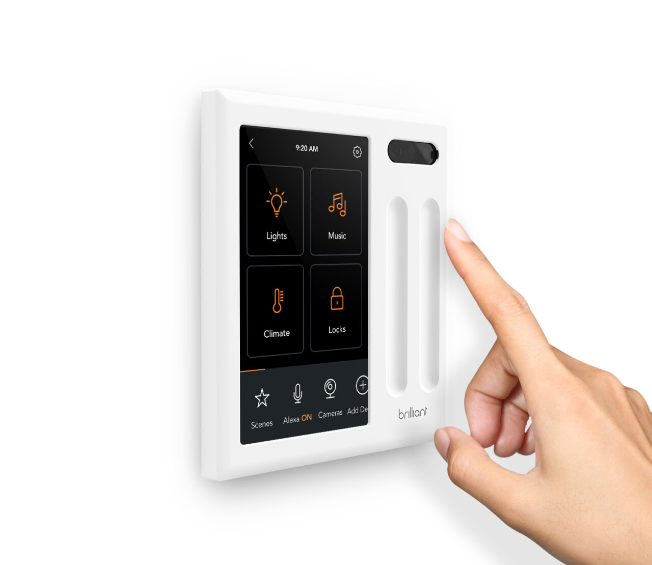 Brilliant smart home control with hand