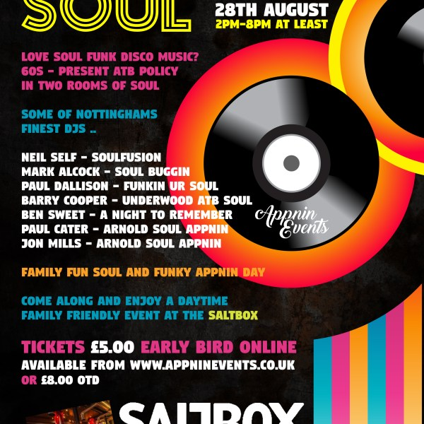 Citys Got Soul Saltbox Nottingham Bank Holiday Monday