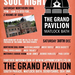 Matlock Bath Soul Bash Grand Pavilion 2 rooms Northern Soul Motown