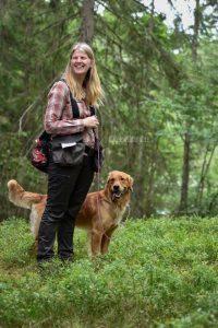 Så här glad kan man vara efter en provstart :) Foto: Hanna Nilsson, http://www.kennelblagul.se/