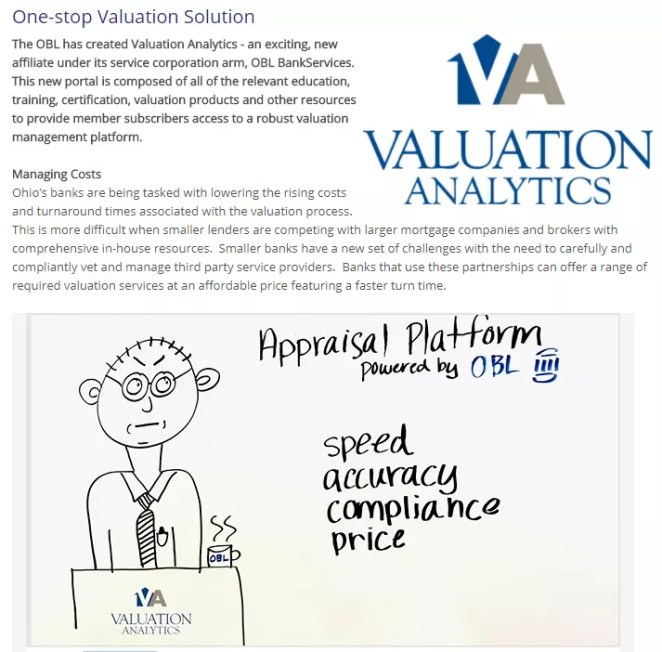Valuation Analytics Ohio Bankers League