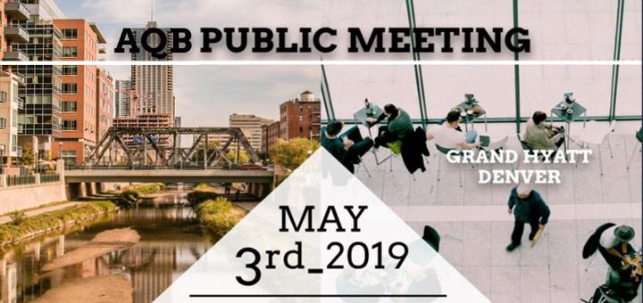 AQB Public Meeting May 2019
