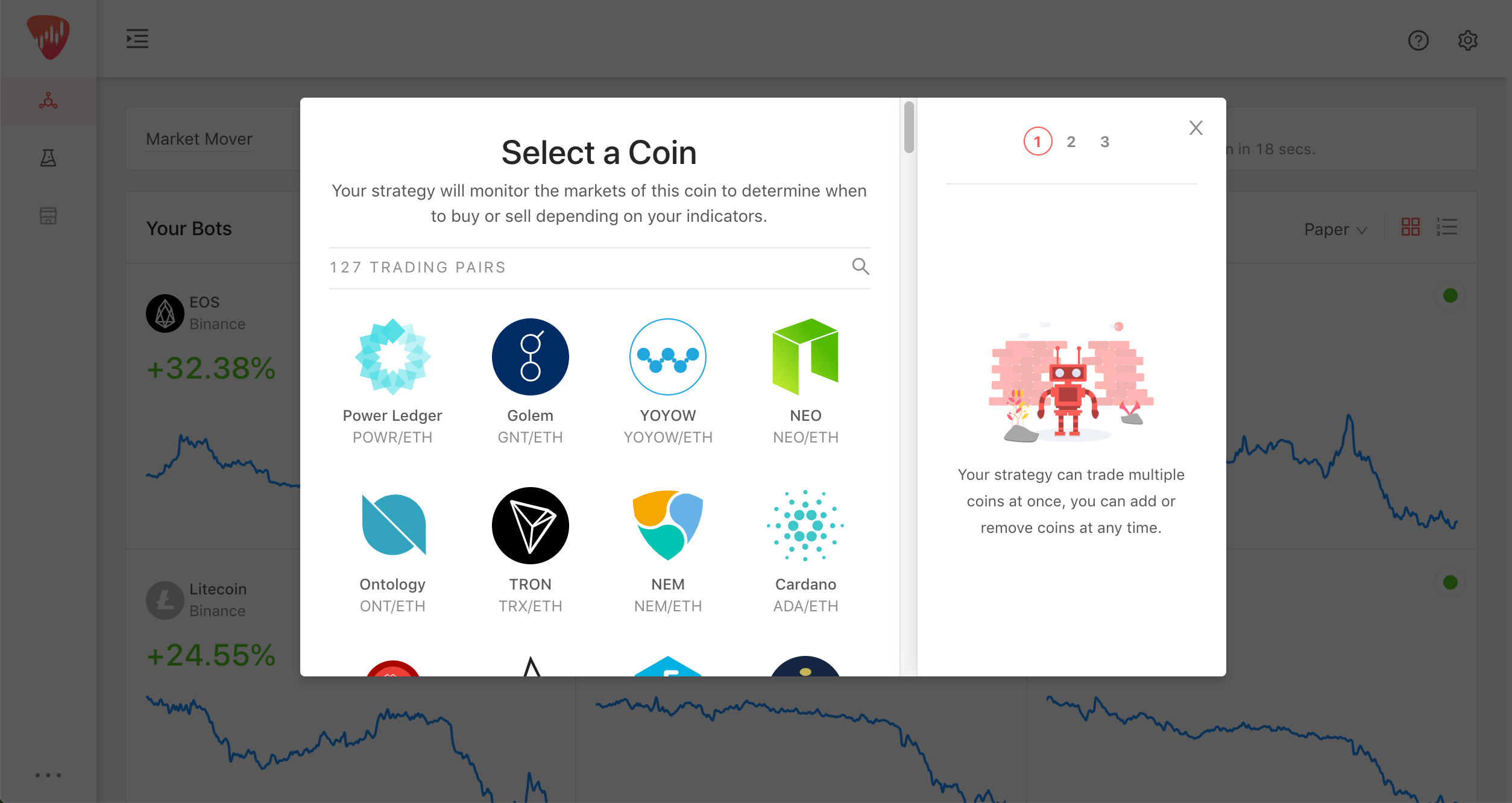 LiveTrader - Easily create automated cryptocurrency trading bots is