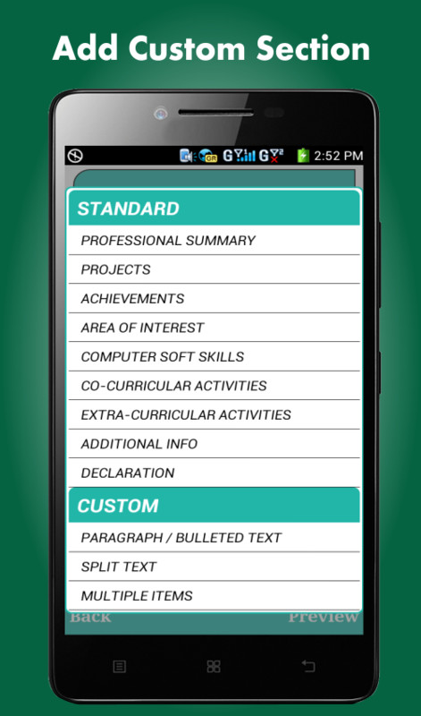 home free android apps smart resume builder cv free android app