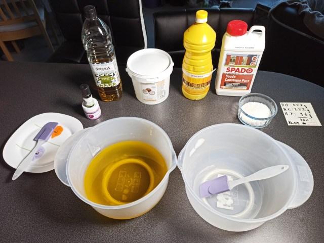 matériel pour faire son savon