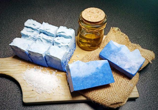 Savon fait maison au gros sel marin
