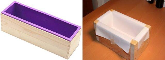moule en silicone et bois pour savon