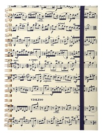 Carnet de note piano
