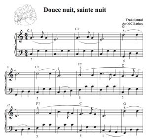 Partition pour piano de Douce nuit