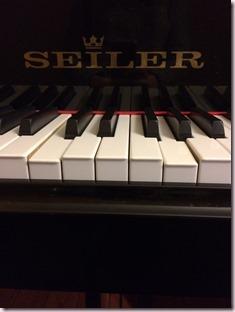Catastrophe sur un piano en secheresse