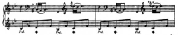 Notation ancienne de la pédale rythmique