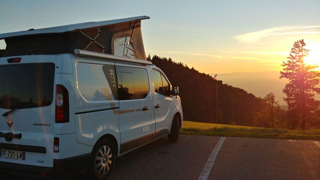 Couché de soleil en Forêt-Noire (sommet du Kandel)