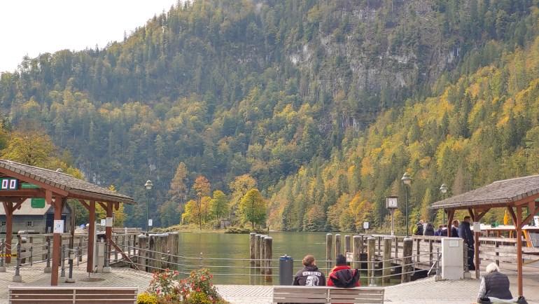 Embarcadère au lac de Königssee (Bavière, Allemagne)