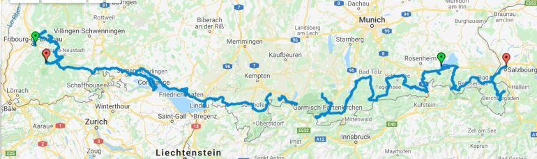 Itineraire Allemagne_Forêt-Noire_Bavière_Zoom