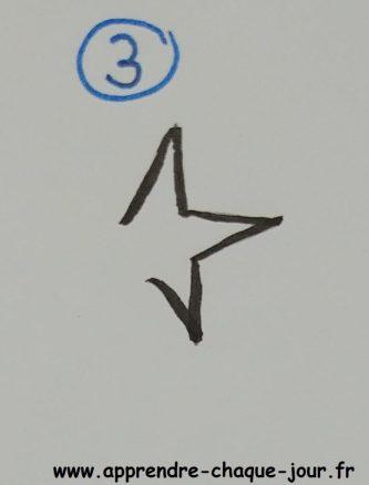 apprendre dessin étoile