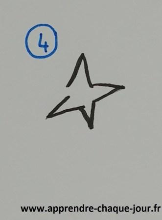 dessiner une étoile 5 branches
