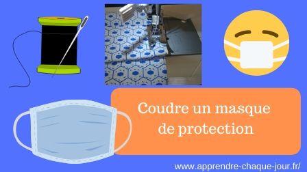 coudre un masque de protection