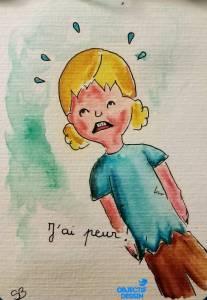 peur de la rentrée enfant qui pleure
