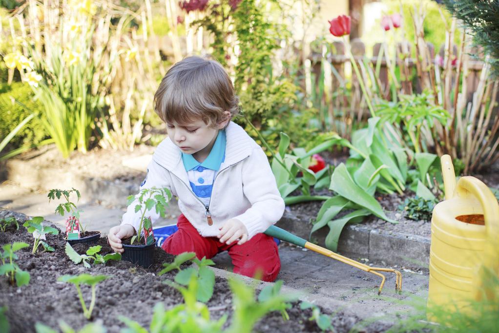 Enfant jardinage