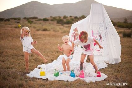 Paint Splatter Session with the Howarter Kids | San Diego Wedding and Lifestyle Photography by Acres of Hope Photography | Blog: