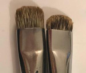 Mes pinceaux du début :Kevrin+ Raphaël N°12, pointe plate et courte à poils d'imitation mangouste