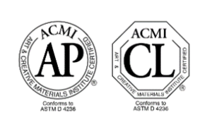 Labels ACMI, Label AP : Approved Product et label CL : Cautionary Labeling