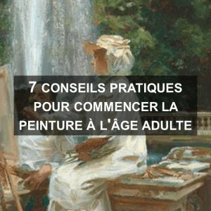 Conseils pour commencer la peinture à l'age adulte
