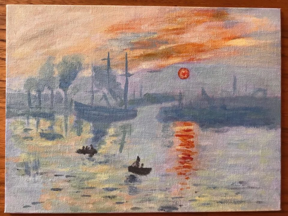 Impression, soleil levant - Reproduction d'après Claude Monet