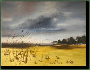 """Utilisation des pinceaux """"traceur"""" pour réaliser les herbes du premier plan"""