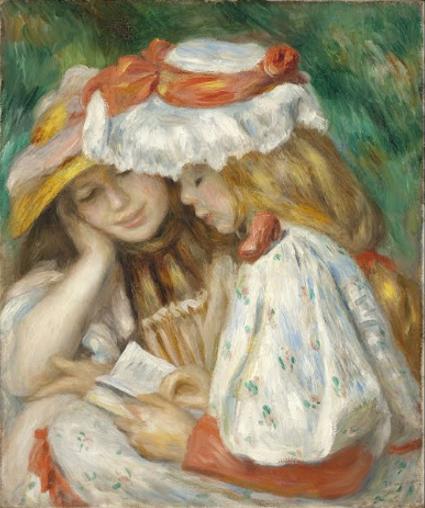 Jeunes filles lisant de Auguste Renoir reflète bien son style artistique