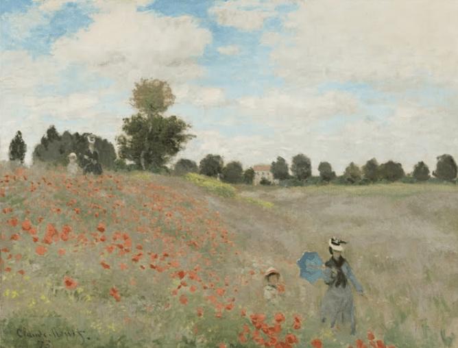 Les coquelicots de Claude Monet reflète bien son style artistique