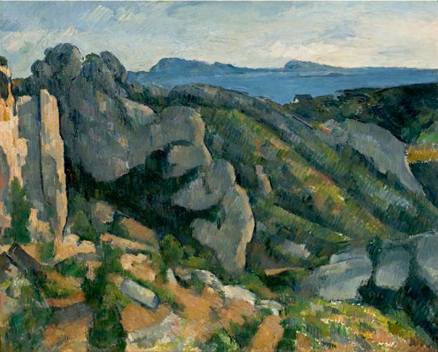 Rocher de l'Estaque de Paul Cézanne reflète bien son style artistique