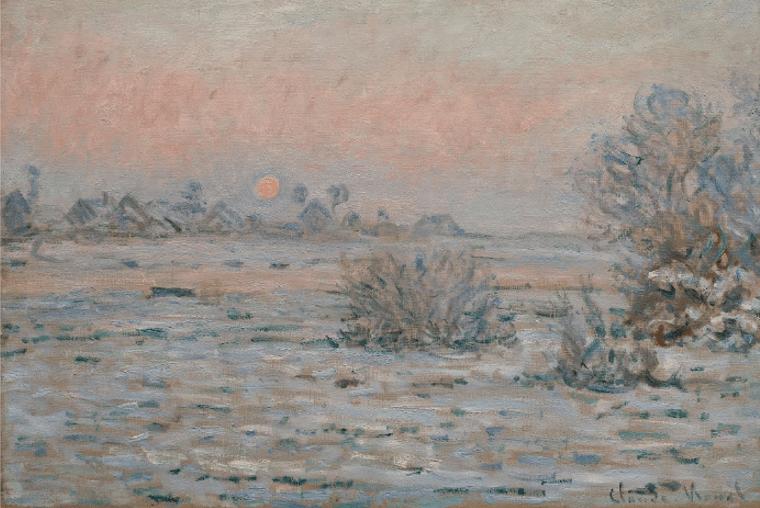 Soleil d'hiver à Lavacourt de Claude Monet représente bien son style artistique