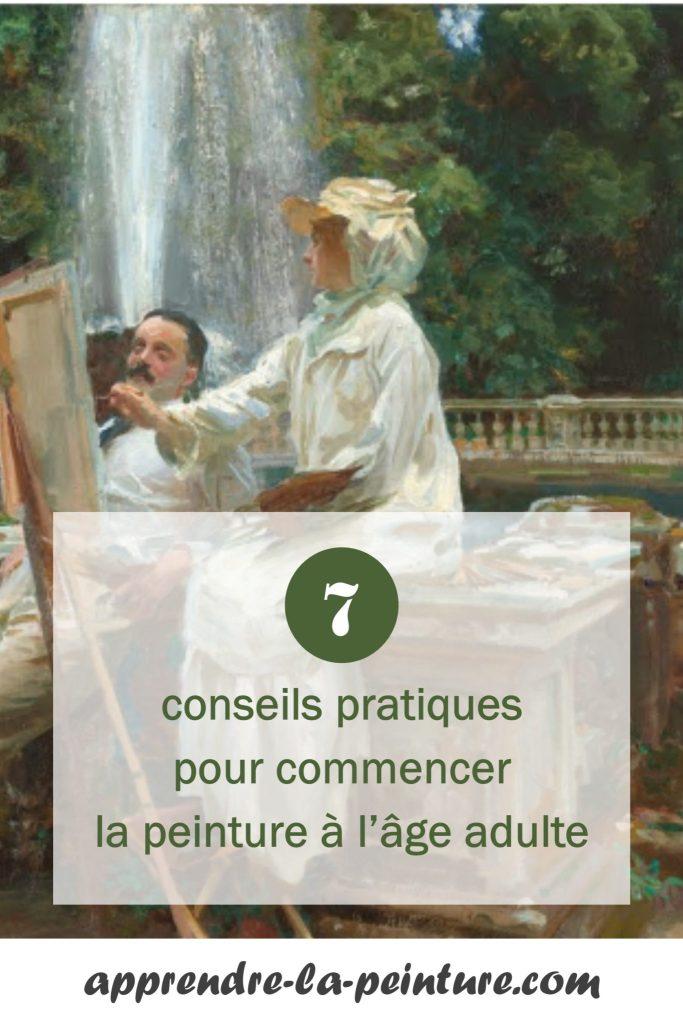 Cliquez ici pour découvrir 7 conseils pratiques pour commencer la peinture à l'âge adulte